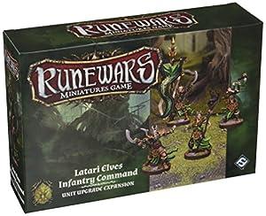 Fantasy Flight Games FFGRWM15 Runewars: Latari Elves Infantry Command Unit Upgrade Expansion, Mixed Colours