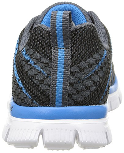 Skechers Flex Advantage Paybacks, Baskets Basses Garçon Gris (Charcoal/Bleu)