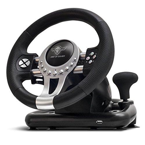 Spirit Of Gamer Volante Race Wheel Pro 2–Conjunto de simulación con Palanca de Velocidad (Compatible con PC/Playstation 3/Playstation 4/Xbox One)