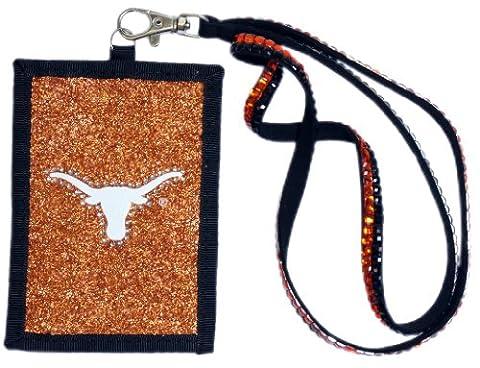NCAA Texas Longhorns Beaded Lanyard with Nylon Wallet
