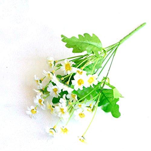 he Blumen Daisy Simulation Pflanze Decor Hochzeit Party Home Dekoration, 1Bouquet, plastik, weiß, Einheitsgröße (Weiße Seide Blumen Bulk)