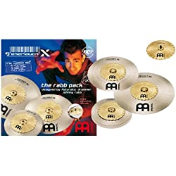 Meinl Generation X 12 inch Safari Hihat, 16 inch Safari Crash and 18 inch Safari Ride The Rabb Pack Cymbals Set