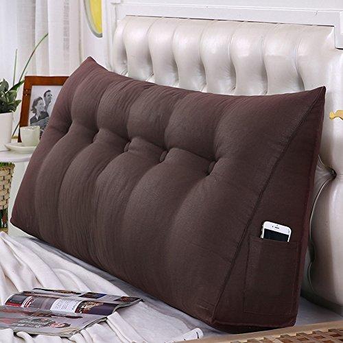 WENZHE Kopfteil Kissen Bett Rückenkissen Rückenlehne Für Bett Bettkeile Keilkissen Palettenpolster Softcase Sofa Zuhause Waschbar, 6 Farben (Farbe : 2#, größe : 150×50cm)
