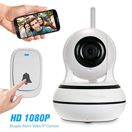 OWSOO Kamera 1080P WiFi 433 MHz Einbrecher Alarm Video IP Kamera PTZ Zweiwege-audio Drahtlose...