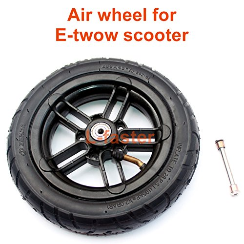 200x35 Pneumatic Tyre Use Nylon Hub Fit M8 or M6 Axle 8' Air Wheel For Electric Scooter Replacement 8 Inch Inflatable Wheel Tube (M6)