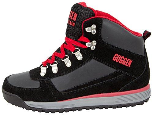 Livre Alpinismo De vermelho Da M010 Ao Sapatos Botas Sapatos Ar Montanha Livre Ao Sapatos Ar Caminhadas Guggen Preto Homens BqPYXX