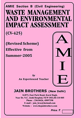 AMIE Waste Management and Env Impact Assesment CV 425 Solved Paper