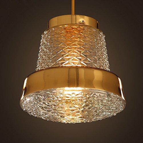 L'oro americano continentale retrò singolo lampadario in vetro di testa salone ristorante bar cafè, lampada (Oro Diffusore)