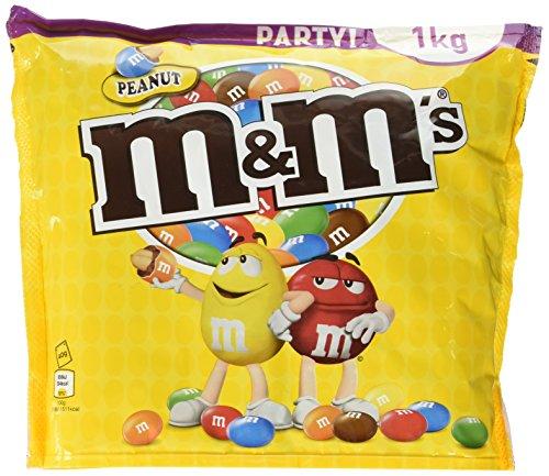 M&M'S Peanut / Geröstete Erdnüsse ummantelt von Milchschokolade / Bunter Knabberspaß für Groß und Klein / 1 x 1kg Beutel