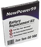 TomTom GO 500(2013) kit de remplacement de batterie avec vidéo d'installation, outils, et batterie longue durée.