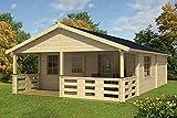 Casa Casetta cottage OKA in legno GARTENPRO cm 575x940x326/224H