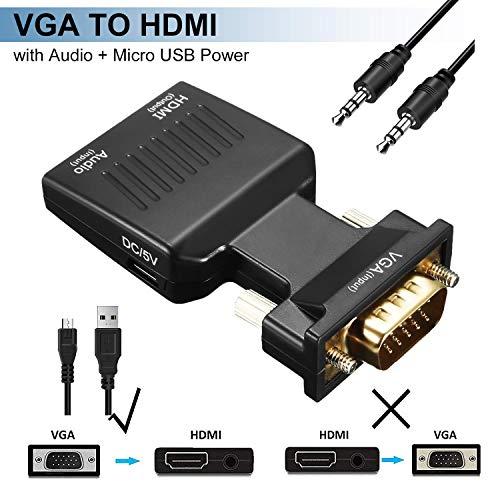 GeekerChip Adaptador VGA a HDMI