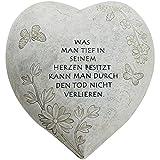 Decoración para tumba COM-FOUR® con forma de corazón, 01 Stück - Spruch 4