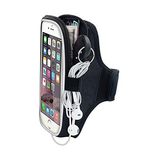 EOTW iPhone 6/6S Plus Brazalete Deportivo para Jogging y Gimnasio, con bolsillo para llaves, auriculares y tarjetas,Brazalete de neopreno para Samsung Galaxy S6/5/4/Note 3/ Note 2 (Negro_5.5inch)