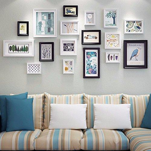 WUXK Foto Wand Dekor modernes, minimalistisches Wohnzimmer Schlafzimmer Bilderrahmen wand Wandmalerei Ideen kombiniert Bilderrahmen Wand Foto an der Wand, C