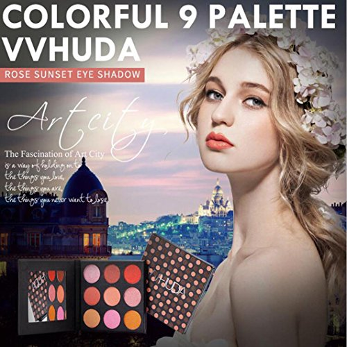 ❤  ❤  Ledertasche von 9Farben Wasserfest  sisit Pailletten Leder Glitzer Lidschatten Puder Palette Matt Eyeshadow Make-up Kosmetik