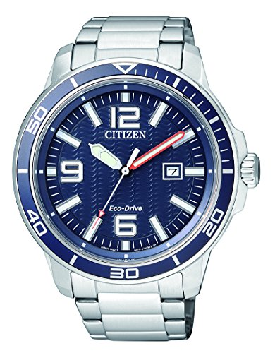 Citizen Herren Analog Quarz Uhr mit Edelstahl Armband AW1520-51L
