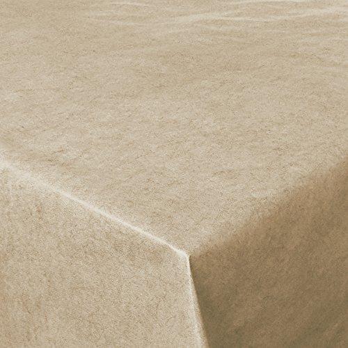 Wachstuch UNI Beige marmoriert · Eckig 140x70 cm · Länge & Farbe wählbar LFGB · abwaschbare...