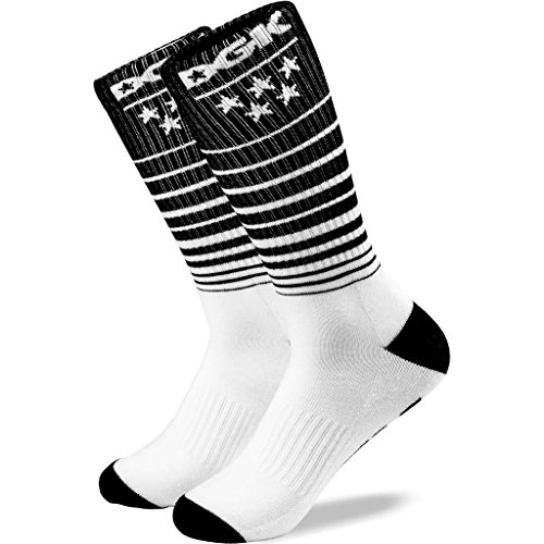Unbekannt DGK Men's Sunset Crew Socks Black White (Big And Tall Crew Socken)