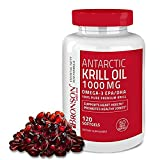Bronson Antarctic Krill Oil 1000 mg with Astaxanthin, 120 Softgels