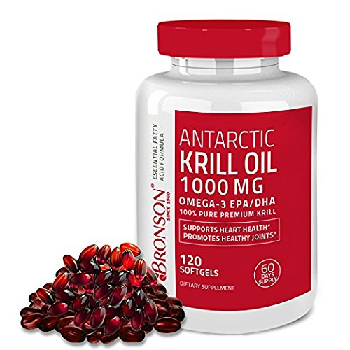 Bronson Vitamins Antarctic Krill Oilwith Astaxanthin (1000 Mg)-120 Softgels