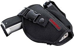 Umarex Unisex- Erwachsene schwarz Gürtelholster mit Magazintasche aus Nylon für mittelgroße Pistolen, mehrfarbig