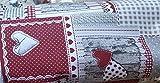STOFFA tessuto tovaglia-cuscino-tende altezza cm 140 country tirolo R