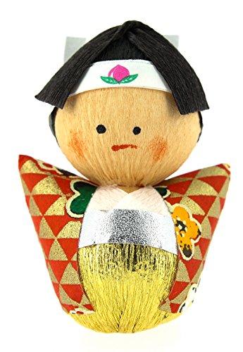 Tierra Zen kp2202 – Culbuto okiagari Momotaro Le Vaillant, 4.5 x 3 x 4 cm, Couleur Rouge