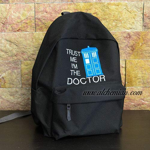 Vertrauen Sie mir, ich bin der Doktor, Rucksack bestickt mit TARDIS, T.A.R.D.I.S, Doctor Who