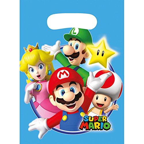 NEU Partytüten Super Mario, 8 (Kostüm Bowser Mario)