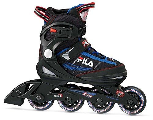 Fila Skates J-One Patines en Linea, Niños, Negro / Azul / Rojo, L