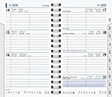 Brunnen 1075601 Taschenkalender/Wochen-Sichtkalender Ersatzkalendarium Modell 756, 2 Seiten = 1 Woche, 87 x 153 mm, Karton-Umschlag, Kalendarium  2019, Wire-O-Bindung