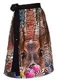 Schürzenliesl, Designer Dirndl Schürze Candy Reh, Strasskrone, Nieten im Motiv (60cm)