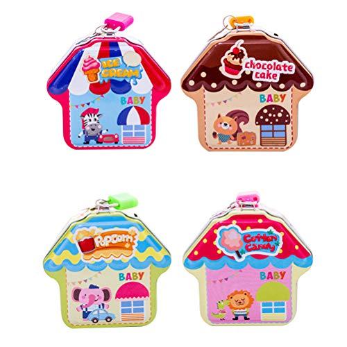 STOBOK Weihnachten niedlich Münze Bank Cartoon Haus Münze Bank Cartoon Mini Sparschwein Einsparungen für Kinder Kinder (zufällige Farbe)
