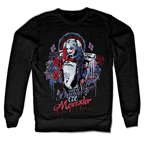 Officially Licensed Merchandise Suicide Squad Harley Quinn Sweatshirt (Black), XX-Large