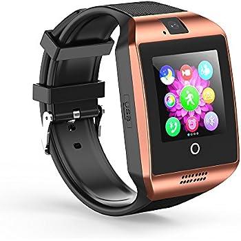Smartwatch SHFY Q18 - Reloj Inteligente con Pantalla Táctil Bluetooth y Ranura para Tarjeta TF/SIM con Cámara para iOS, iPhone, Android, Samsung, ...