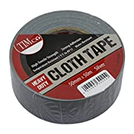 Heavy Duty TIMco HDCTSILVER Cloth Tape - Silber