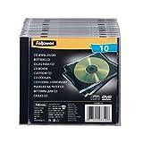 Fellowes Jewel Case Leerhülle für 1 CD 10er Packung schwarz