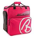 BRUBAKER Super Champion borsa per scarponi da sci con scomparto casco colore neon fuchsia / bianco