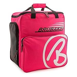 BRUBAKER Skischuhtasche Helmtasche Skischuhrucksack Super Champion Pink Weiss – Limited Edition –