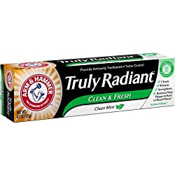 Arm Hammer Truly Radiant Clean Mint Fluoride Anticavity Toothpaste, 4.3 oz