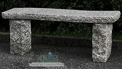 KMH®, Geschwungene Gartenbank aus massivem Granit! (#103032)