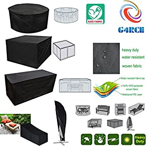 G4RCE® GARDEN PATIO FURNITURE SET COVER WATERPROOF COVERS RATTAN ROUND TABLE CUBE SOFA SWING 2/3 SEATER GARDEN BENCH…