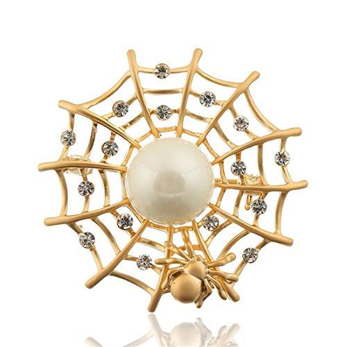 Warmhome WARM nach Hause Insektenschmuck Persönlichkeit Spinnennetz hohlgeschnitzten Design Diamant DIY Mode Brosche Geschenk