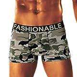 Fulltime® Männer Camouflage weichen Slip Boxer Briefs Military Camouflage Boxershorts Badehose Unterwäsche Unterhose Push Up Knickers Underwear Badehose Tarnung (A, XL)