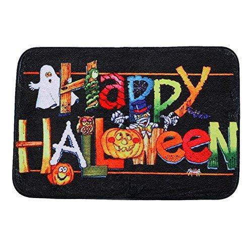 Seawang Home Dekoration Halloween Happy Halloween Muster Art Design Anti-Rutsch Teppich Fußmatten Boden Hall Matte