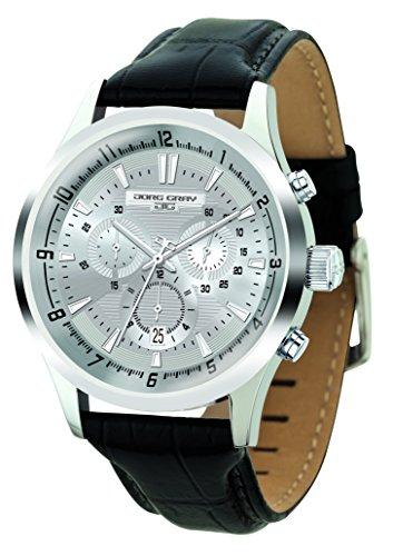 Jorg Gray JG6800-21 Montre bracelet Homme, Cuir, couleur: noir