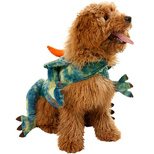 Kostüm Fancy Neuheit Dress - Pooch Couture Pet Dog Neuheit Fancy Dress Kostüm Outfit Hunde Coat - Dinosaurier