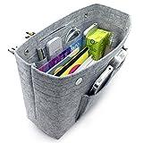 vancore Taschenorganizer Bag in Bag Filz Organizer Tasche, Handtaschen Organizer Groß Hellgrau