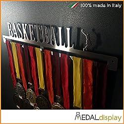 Basketball | Puerta medallas Baloncesto/medallón de pared medaldisplay Medal Hanger Baloncesto, 450mm x 80mm x 3mm